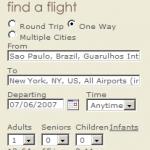 Compare preços de passagens aéreas internacionais