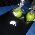 Maçãs verdes fritas