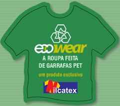 Camiseta feita com garrafa PET
