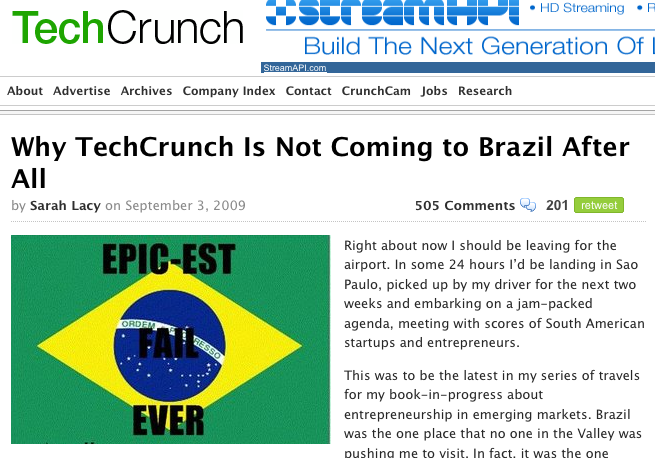 screenshot techcrunch