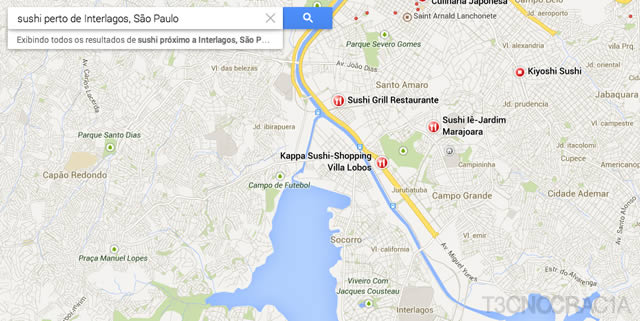 Novo Google Maps Sushi Interlagos