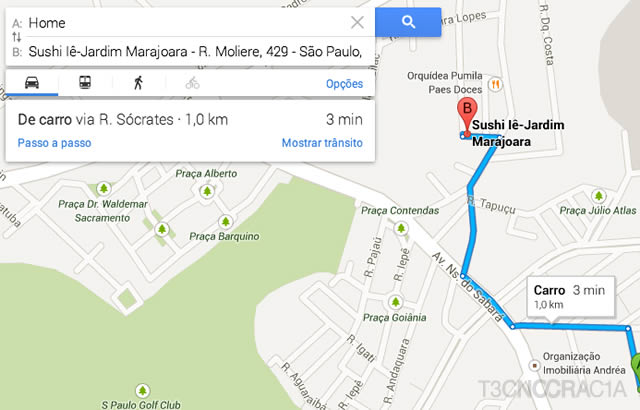 Novo Google Maps Sushi Traffic