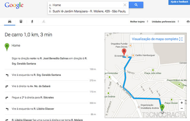 Novo Google Maps Sushi Turn by Turn