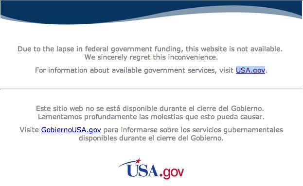 Anúncio no site da NASA