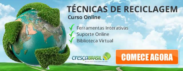 Curso online técnicas de reciclagem